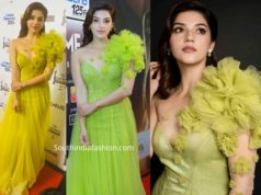 mehreen kaur in green gown at filmfare awards south 2019 (2)