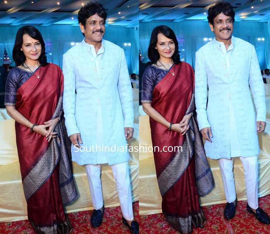nagarjuna and amala akkineni at a wedding reception