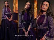 namrata shirodkar purple anarkali by jayanti reddy (1)