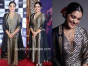nivetha thomas in a black raw mango salwar kameez at darbar audio launch