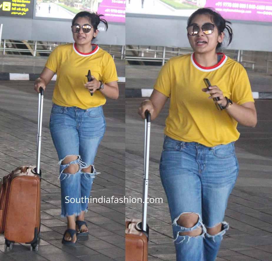 nivetha thomas snapped at airport