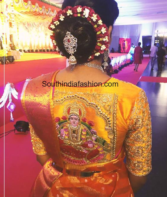 pattu saree blouse designs with maggam work 2020 (4)