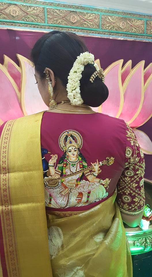 pattu saree blouse designs with maggam work 2020 (7)