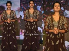 payal rajput in brown dress at venky mama pre release event