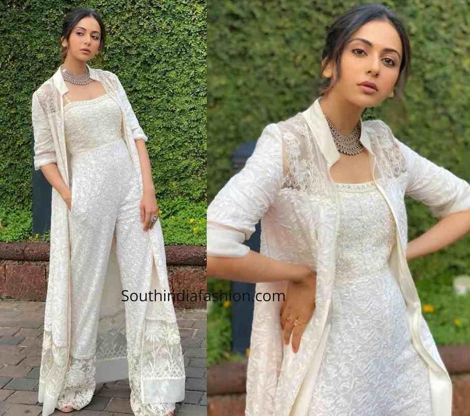 rakul preet singh white dress (1)