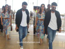 ram charan and upasana at airport