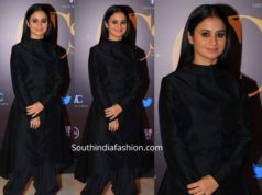 rasika dugal in black kurta dhoti pants at critics choice shorts and series awards