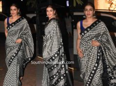 raveena tandon in printed saree