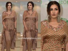 raveena tandon printed indo western dress