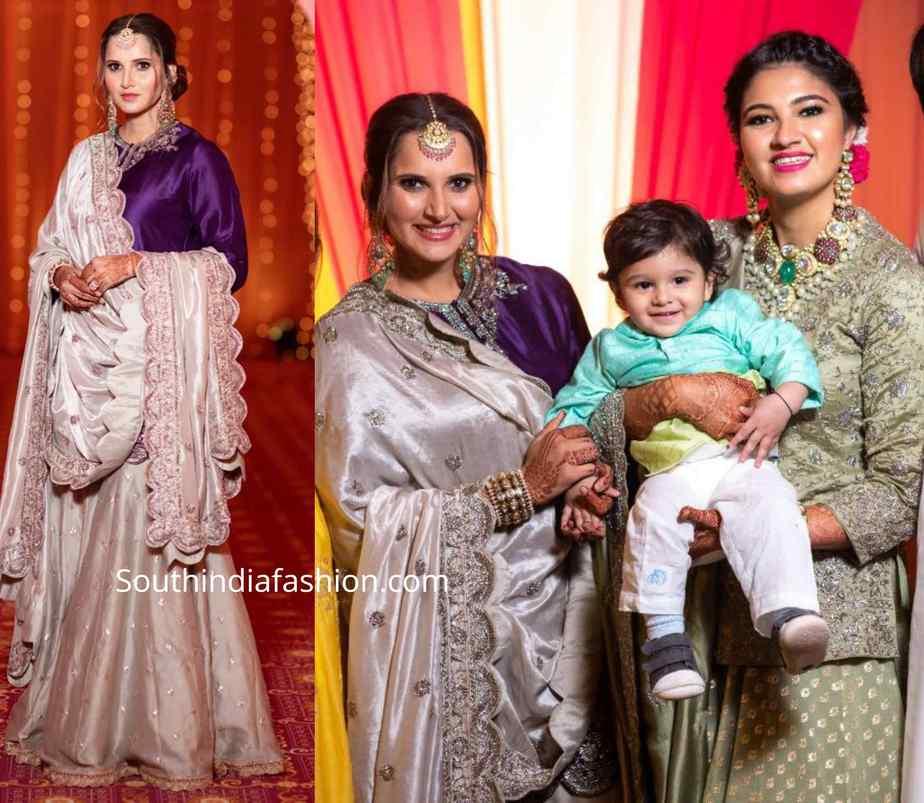 sania mirza at her sister anam mirza pre wedding mehendi function