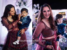 sania mirza lehenga at her sister wedding reception (5)