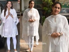 sara ali khan white churidar suit