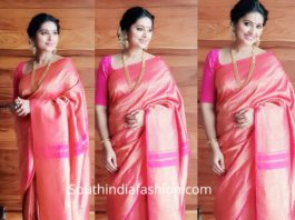 sneha prasanna in kanchi pattu saree