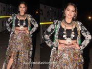 sonakshi sinha at dabangg 3 promotions in anamika khanna dress