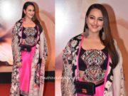sonakshi sinha in anamika khanna dress at dabangg 3 screening