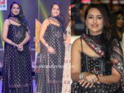 sonakshi sinha in black sharara at dabangg 3 pre release hyderabad