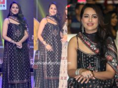 sonakshi sinha in black sharara at dabangg 3 pre release hyderabad