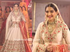 sonam kapoor lehenga in neeru's fashion show (1)