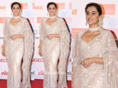 taapsee pannu white saree at lokmat most stylish awards 2019