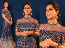 upasana gown at anam mirza wedding reception (2)