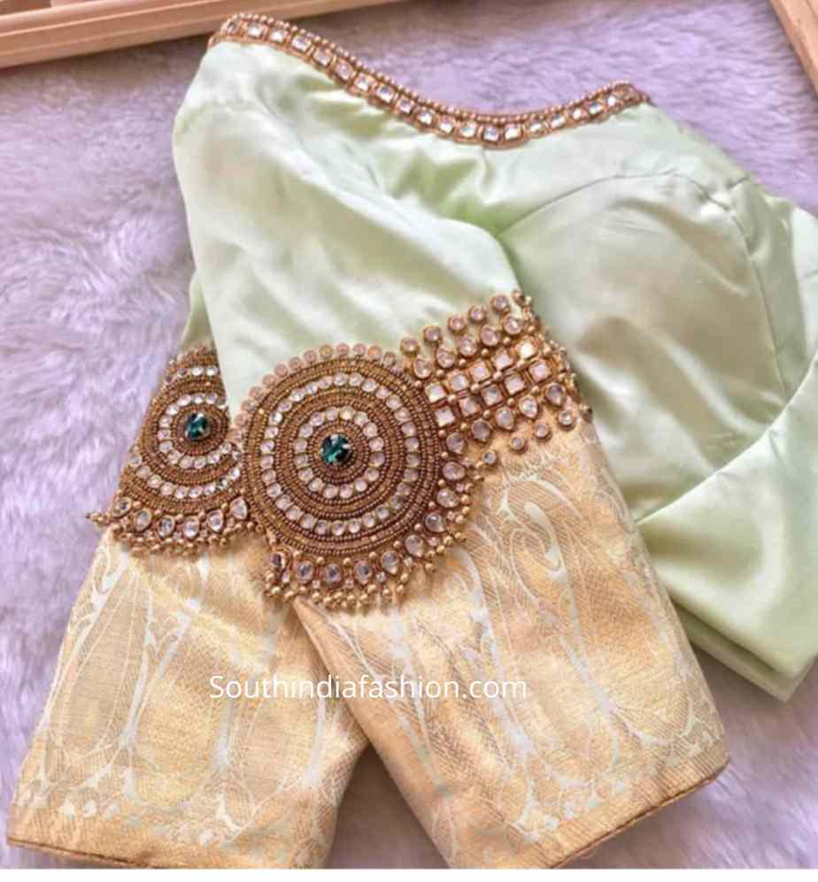 vanki design maggam blouse