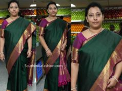 vasundhara nandamuri green silk saree