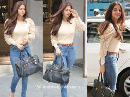 vedhika kumar casual look jeans