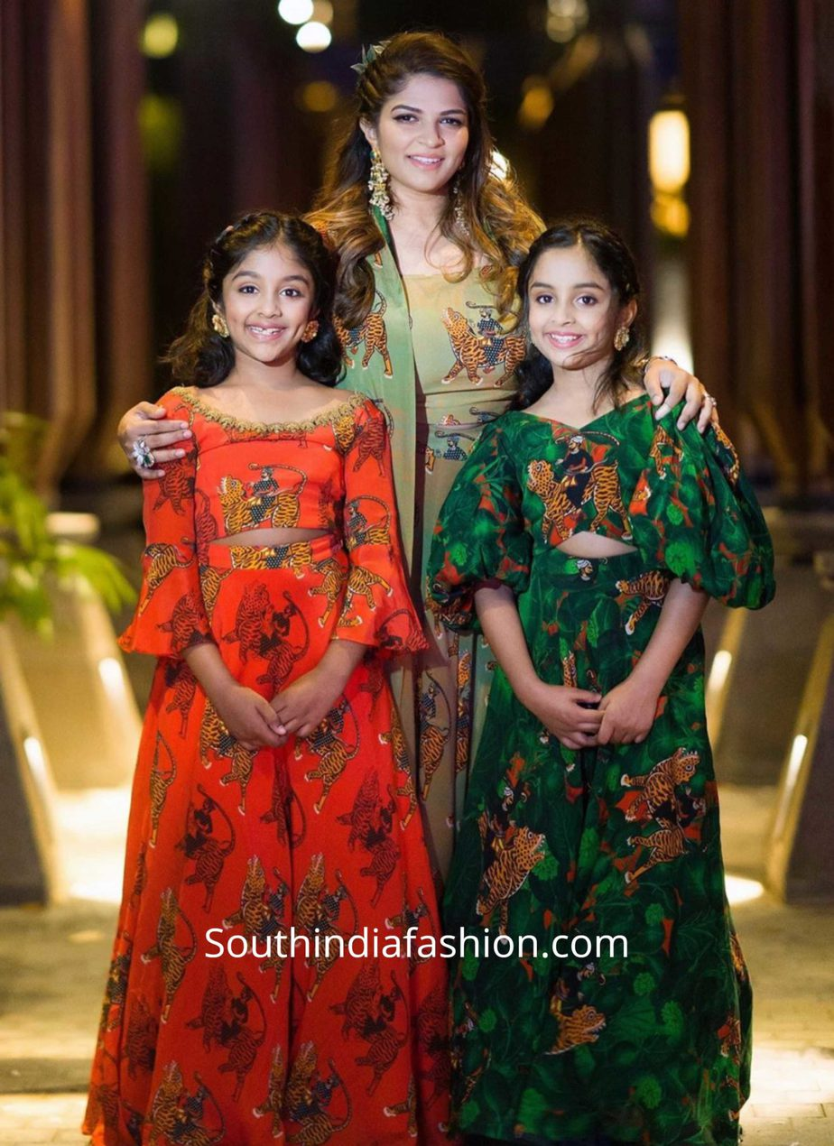 viranica manchu and her daughters in masaba lehengas