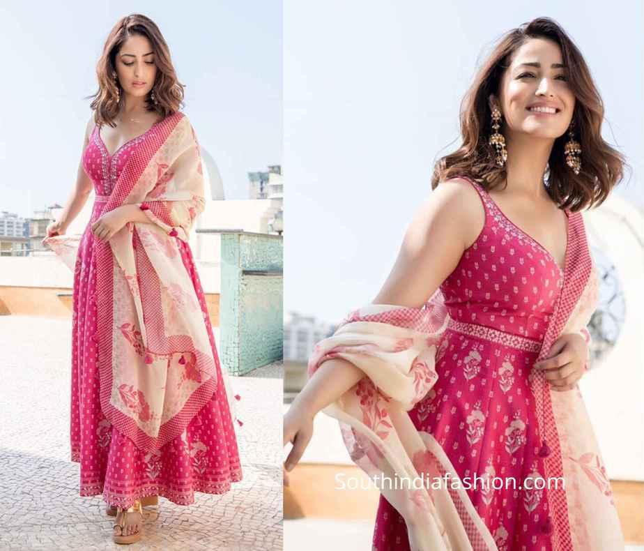 yami gautam pink suit by anita dongre
