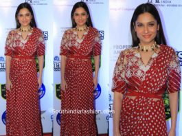 Ankita Lokhande in red lehegna saree at lions gold awards 2020