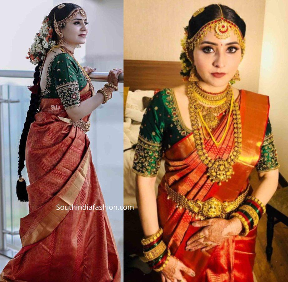 actress bhama wedding saree (1)