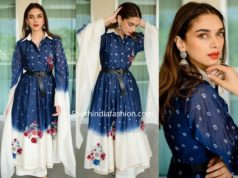 aditi rao hydari in blue and white palazzo suit
