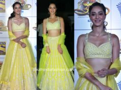 ananya panday in yellow lehenga at umang police show 2020