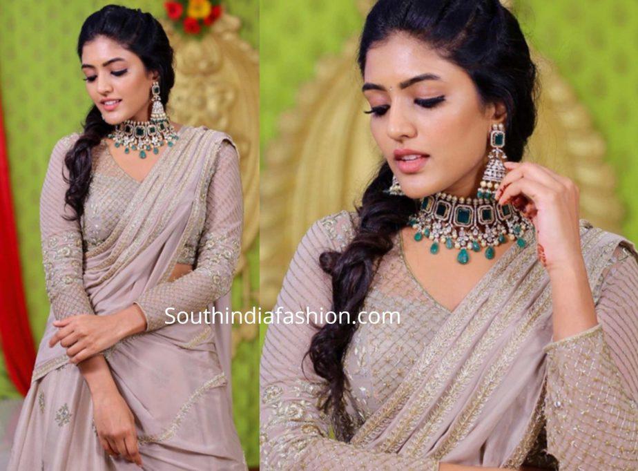eesha rebba half saree (1)