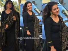kajol in black salwar kameez at tanhaji screening