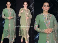 kangana ranaut in green salwar kameez panga promotions on dance plus show