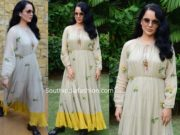 kangana ranaut in maxi dress at panga promotions