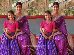 lakshmi manchu and her daughter in traditonal wear for bhogi