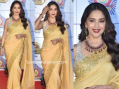 madhuri dixit in yellow saree at umang 2020 (2)