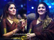 nayanthara maroon saree at zee cine awards tamil 2020 (1)