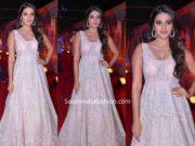 nidhhi agerwal in pink gown at zee cine awards telugu 2020