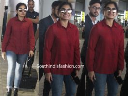 nivetha thomas in jeans airport look