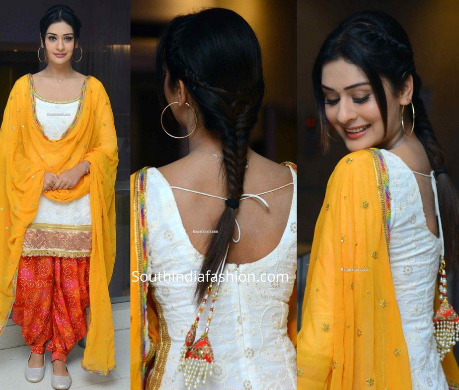 payal rajput in patiala suit at disco raja success meet