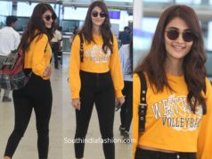 pooja hegde casual airport look