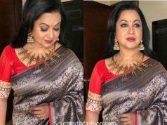 radhika sarathkkumar in banarasi silk saree colors kodeeswari show (1)
