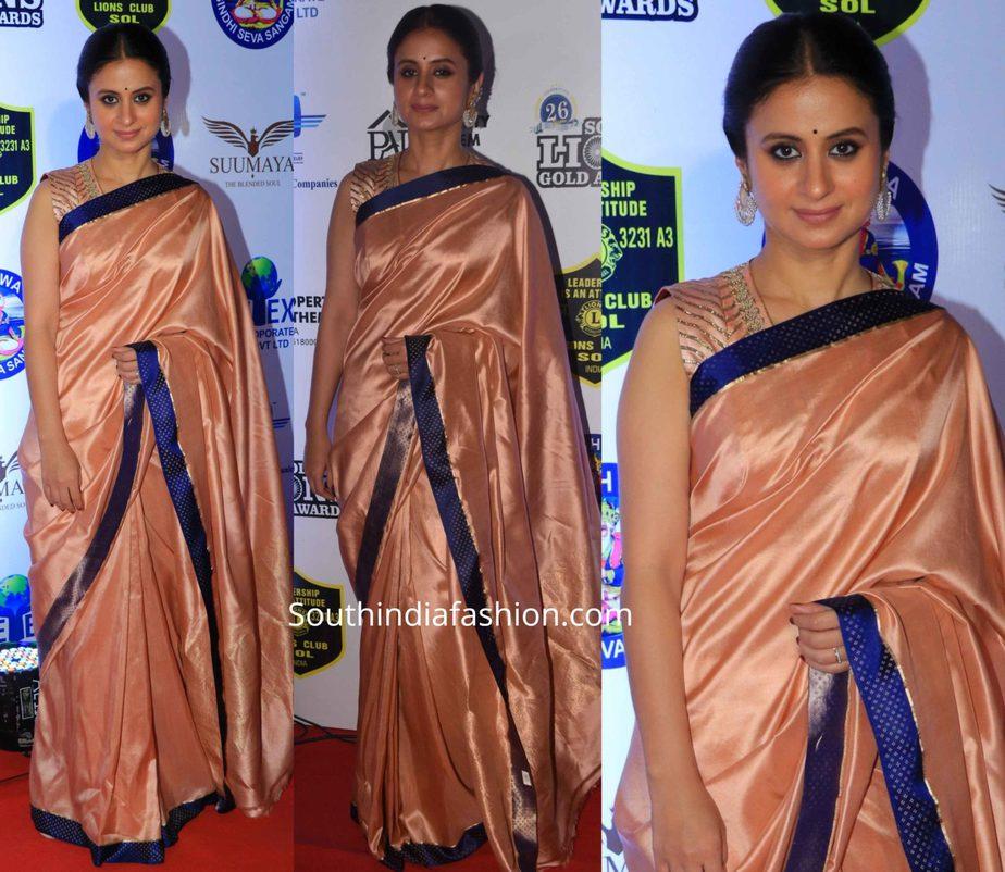 rasika dugal saree at lions gold awards 2020