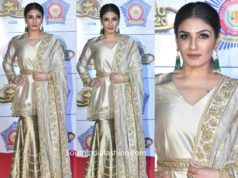 raveena tandon gold sharara umang 2020 (2)