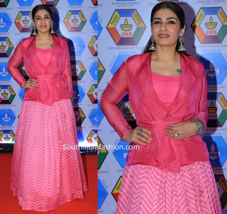 raveena tandon in pink lehenga (2)
