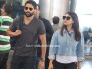 samantha akkineni and naga chaitanya at airport