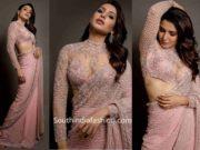 samantha akkineni pink saree at zee cine awards tamil 2020 (3)